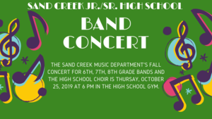 6-8th Band Concert and HS Choir Concert