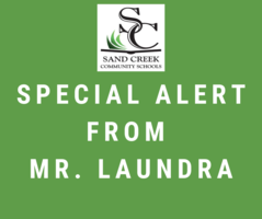 Special Alert from Mr. Laundra 10/3/19